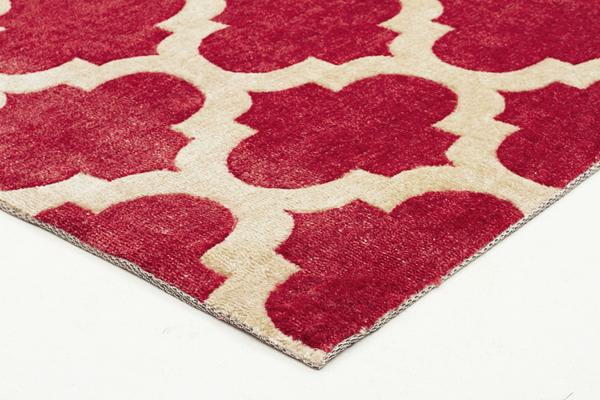Trellis Stylish Design Rug Red 280x190cm