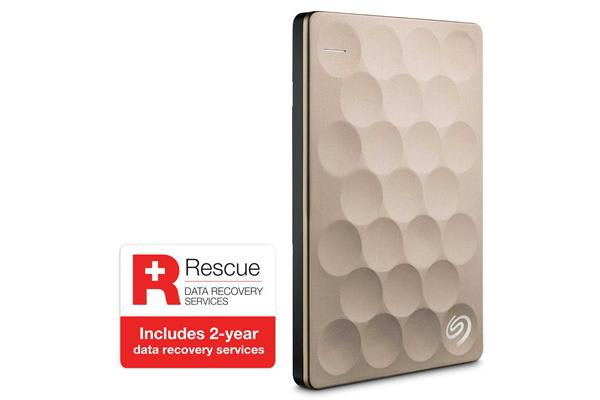 Seagate 2TB Backup Plus Ultra Slim - Gold (  Includeds 2- Year Data Recovery Services  --