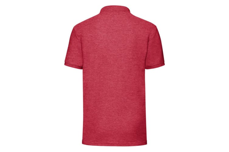 Fruit Of The Loom Mens 65/35 Pique Short Sleeve Polo Shirt (Heather Red) (M)
