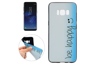 """For Samsung Galaxy S8 Case """"Be Happy"""" Stylish Soft Durable Protective Cover"""