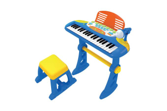 Electronic Keyboard With Stand And Stool - Blue