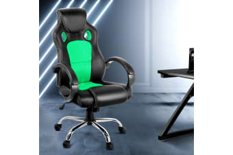 Artiss Gaming Chairs Office Study Computer Desk Seating Racing Racer Black Green