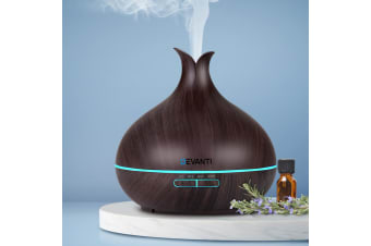 Devanti Aromatherapy Diffuser Aroma Essential Oil Ultrasonic Humidifier 400ml DW