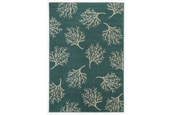 Coral Reef Turquoise Outdoor Rug 270X180cm