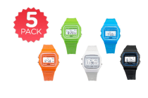 5 Pack Retro Digital Watch