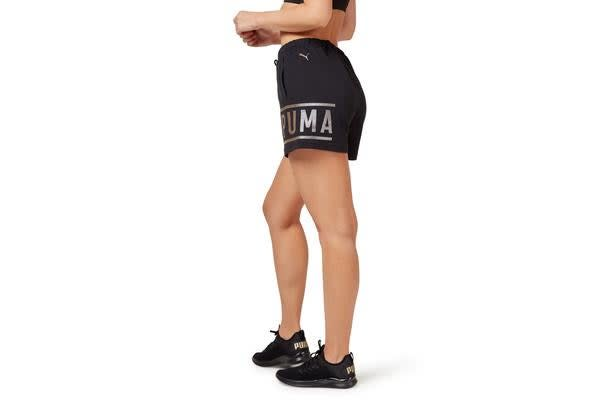 Puma Women's Athletic Shorts (Black, Size L)