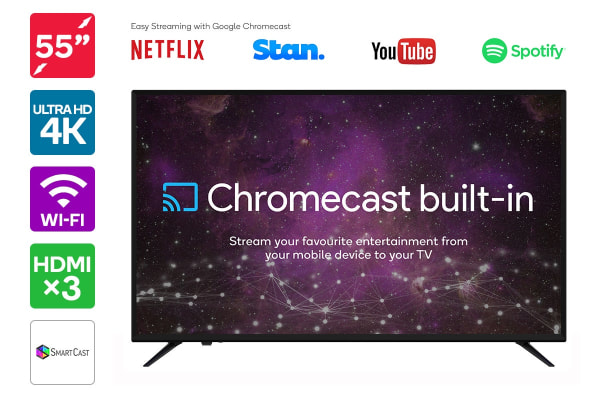 "55"" Smart Cast™ 4K LED TV with Google Chromecast (Smart TV)"