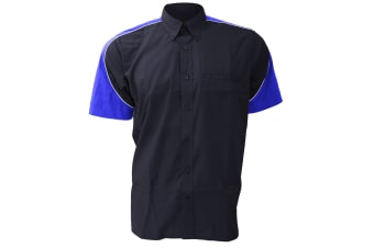 Formula Racing® Sebring Short Sleeve Shirt / Mens Shirts (Navy/Royal/White)