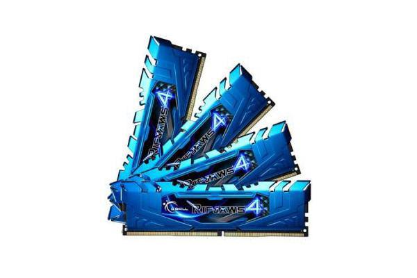 G.SKILL RIPJAWS 4 DDR4 2400 MHZ 32GB KIT 4X8GB 15-15-15-35 1.2V PC4-19200 BLUE