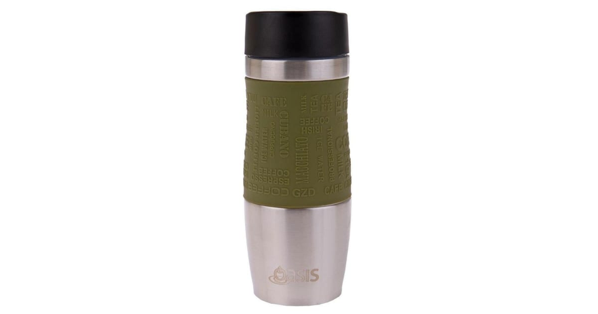 9381890d435 Dick Smith | Oasis Cafe 380ml Stainless Steel Insulated Travel Drink Mug  Flask Avocado Green | Hydration (Camping)