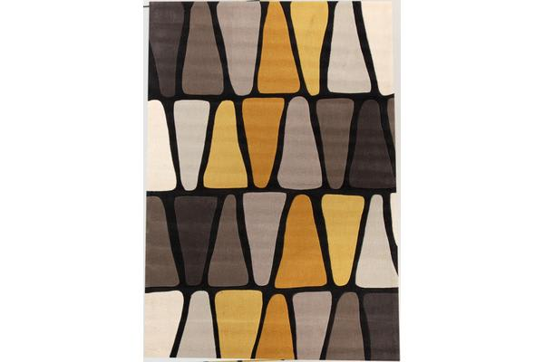 Rock Star Brown And Gold Rug 280x190cm