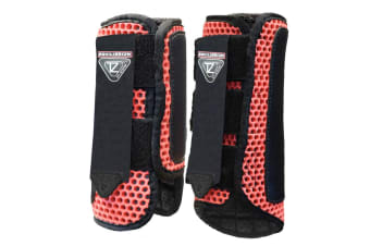 Equilibrium Tri-Zone Horse Impact Sports Boots (Red)