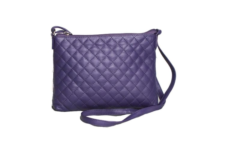 Eastern Counties Leather Womens/Ladies Rose Quilted Handbag (Purple) (One size)