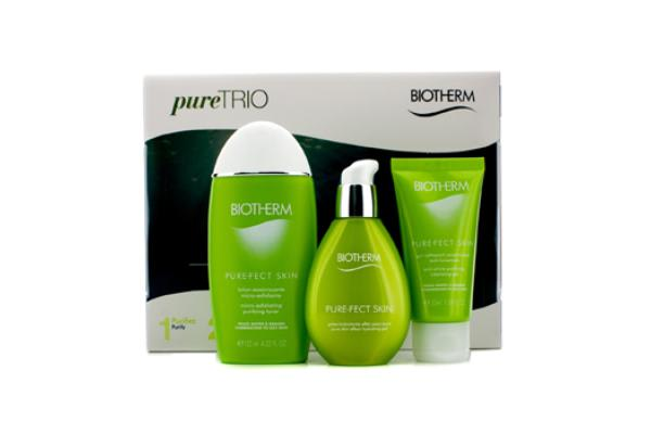 Biotherm Pure.Fect Skin Trio (Normal to Oily Skin): Cleansing Gel 50ml + Purifying Toner 125ml + Hydrating Gel 50ml (3pcs)
