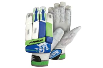 Spartan Cricket MC Contender Batting Glove Boys Left Handed/Leather/PVC BLU/WHT