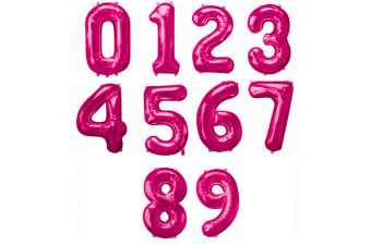 Amscan Supershape Pink Number Balloons (Pink) (3)