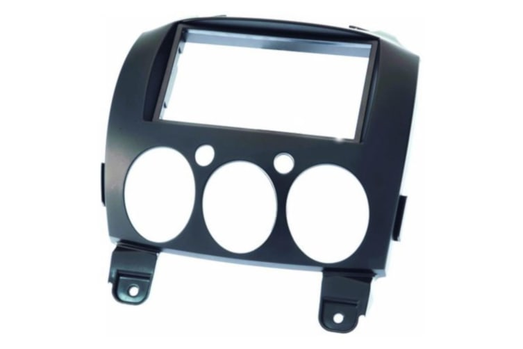 Facia kit to Suit Mazda 2 Matte Black colour Plastic mounting bracket and trim ring
