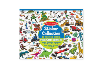 Melissa and Doug Sticker Collection - 500 Stickers in Blue Themes