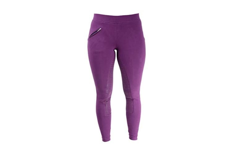 HyPERFORMANCE Womens/Ladies Hickstead Silicon Leggings (Purple) (30in)