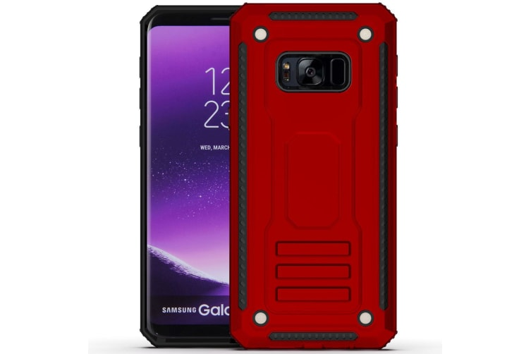 For Samsung Galaxy S8 Case  Armour Strong Shockproof Thin Tough Cover  Red