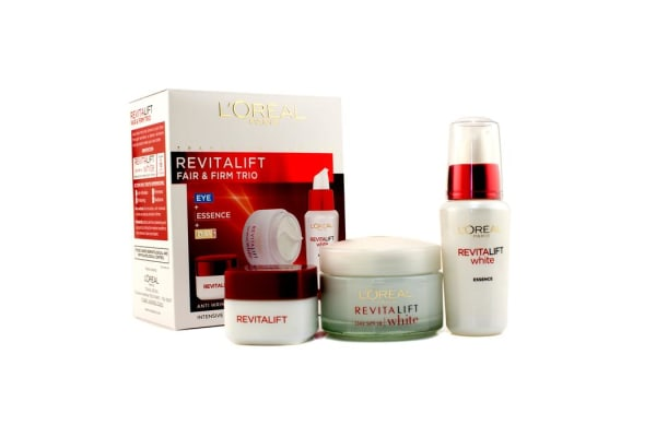 L'Oreal RevitaLift Fair & Firm Trio: Day Cream SPF18 50ml +  Essence 30ml + Eye Cream 15ml (3pcs)