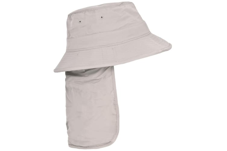 Trespass Adults Unisex Bearing Bucket Hat With Neck Protector (Pebbles) (M/L)