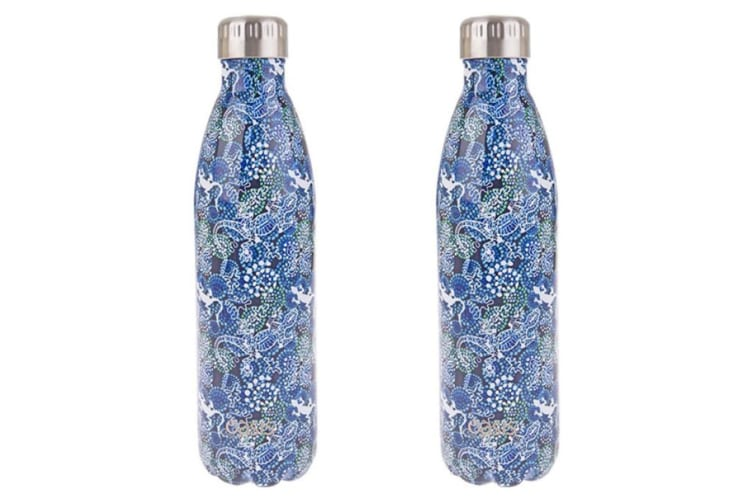 2x Oasis 750ml Double Wall Insulated Drink Water Bottle Vacuum Flask Goanna