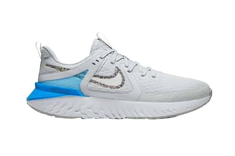 Nike Women's Legend React 2 Shoes (Grey/Blue/White, Size 8 US)