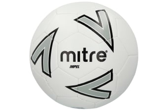 Mitre Impel 2018 Size 5 Stitched PVC 30 Panel Soccer/Football Training Ball WHT