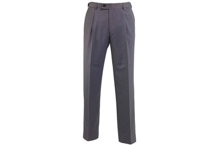 Alexandra Mens Icona Single Pleat Formal Work Suit Trousers (Charcoal) (42R)