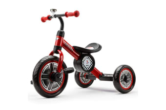 "Mini Cooper Red 10"" Kids Push Tricycle Ride-On Bike"