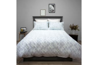 Terrace Quilted Embossed Quilt Cover Set SINGLE