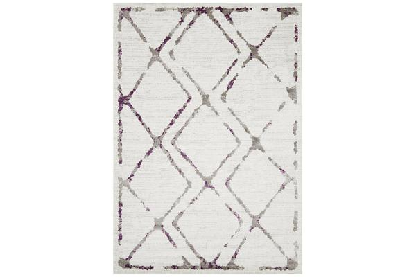 Felicia Purple & Ivory Soft Abstract Rug 400x300cm