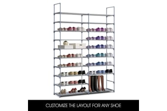 60 Pairs Shoe Rack Tower Storage Organiser Self - 10 Tiers