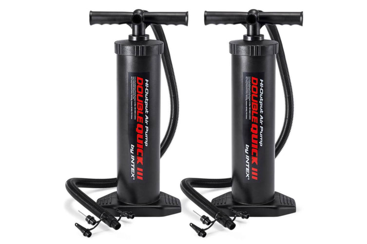 2PK Intex 48cm High Output Hand/Manual Air Pump/Inflatable f/ Airbeds/Pool/Boats