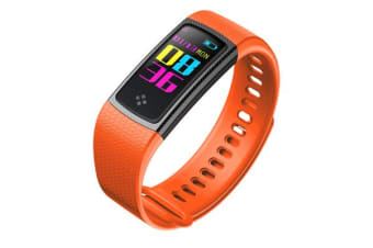 """TODO Bluetooth V4.0 Fitness Watch Band Heart Rate Blood Pressure Ip67 0.96"""" Oled - Orange"""