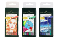 Faber-Castell PITT Brush Tip Artist Pen Bundle