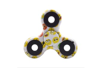 3D Alloy Fidget Hand Finger Spinner EDC Focus Stress Reliever Toys Kids Adults - Emoji