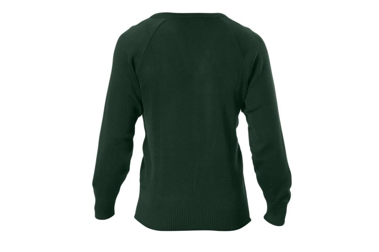 Hard Yakka Men's Wool/Acrylic V-Neck Jumper (Bottle Green, Size S)