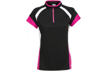 Trespass Womens/Ladies Harpa Short Sleeve Cycling Top (Black)