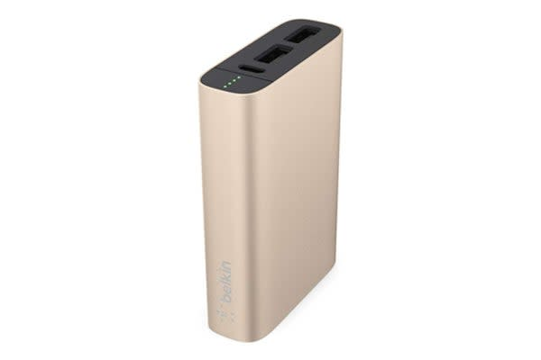 Belkin MIXITUP Power Pack 6600MaH Battery Pack Power Bank - Gold (F8M989BTGLD)