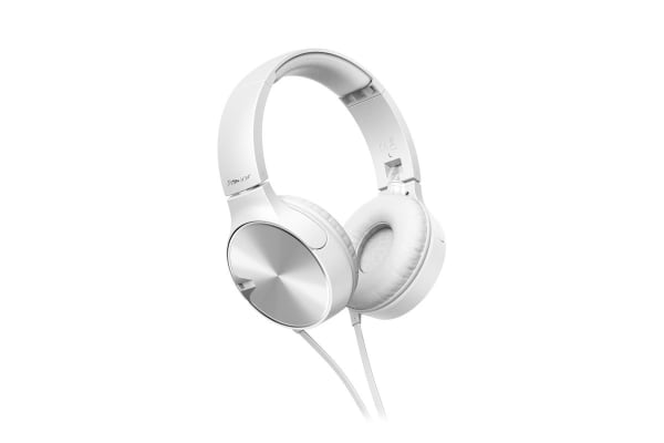 Pioneer Enclosed Bass Dynamic Headphones with Mic - White (SEMJ722TW)