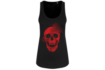 Grindstore Heart Shot Ladies Floaty Tank (Black) (Large)