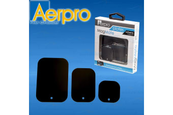 3x AERPRO MAGMATE REPLACEMENT MAGNETIC METAL MOUNT PLATES PHONE CAR HOLDER NEW