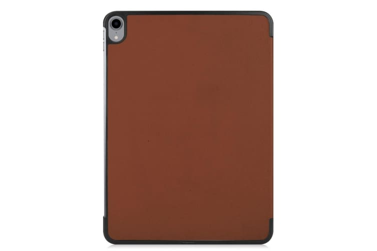 For iPad Pro 11 Inch (2018) Case Brown Karst Texture PU Leather Folio Cover
