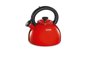 Chasseur Domus Enamelled Whistling Kettle 2.5L Red