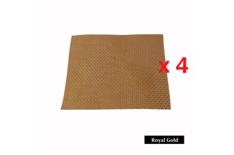 4 Pieces of Woven Table Placemats Royal Gold by Choice