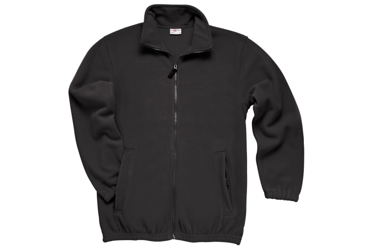 RTXtra Mens Classic Pill Resistant Fleece Jacket (Black) (3XL)