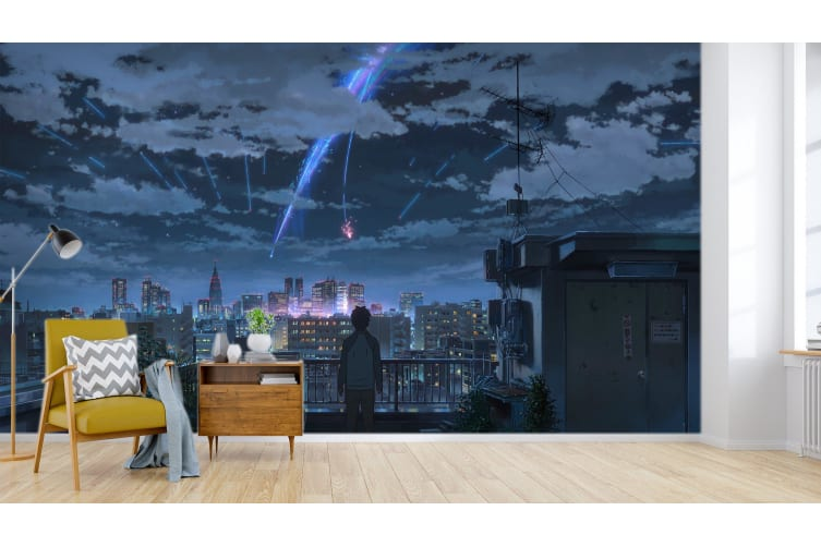 3D Your Name 075 Anime Wall Murals Woven paper (need glue), XXXXL 520cm x 290cm (WxH)(205''x114'')