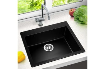Kitchen Sink Stone Granite Top/Undermount Singe Bowl 570x500mm